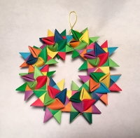 paper stars folded in European tradition by Kathy Link