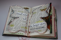 Maree McHugh's book art #1