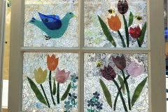 Bluebird of Happiness with Tulips
